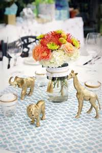 Zebra Themed Baby Shower Decorations Gold Safari Baby Shower Decor Fix