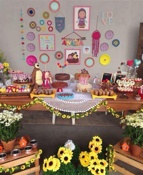 decoracion infantil muyameno fiestas infantiles decoradas con masha y el