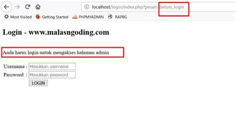 membuat login dengan php mysqli membuat login dengan php dan mysqli part 2 malas ngoding