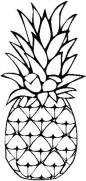 pineapple coloring page pineapples cliparts co