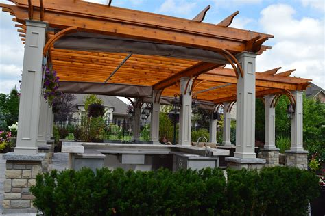 pergola with retractable shade retractable canopies in vaughan shadefx canopies