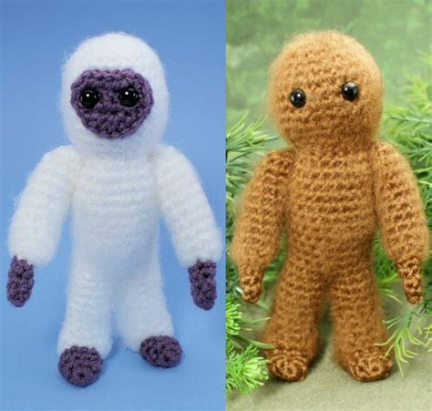 yeti crochet pattern yeti and bigfoot amigurumi crochet pattern planetjune