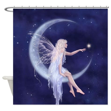 Fairy Wall Stickers Uk birth of a star moon fairy shower curtain by twosilverstars