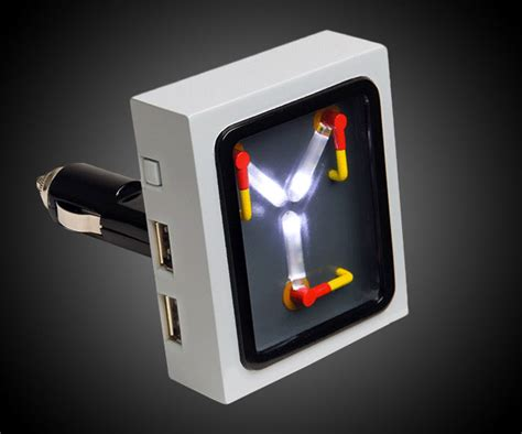 flux capacitor usb car charger dudeiwantthat
