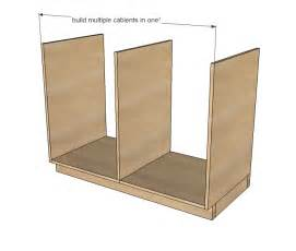 kitchen base cabinet plans pdf plans diy free rod
