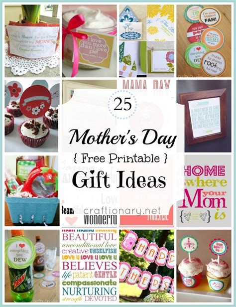 mothers day gift ideas 25 s day free printable gift ideas pinlavie