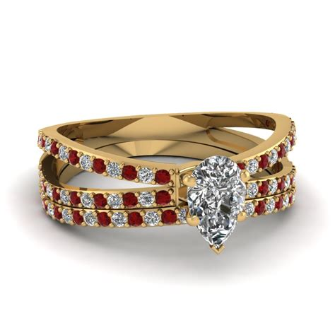Wedding Rings Ruby by Designs Of Ruby Wedding Ring Sets Fascinating