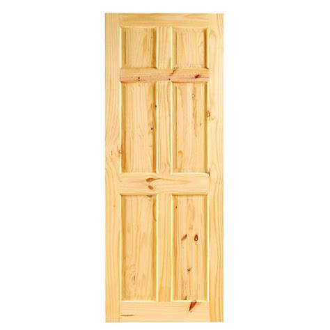 Softwood Interior Doors Wickes Lincoln Softwood Door Knotty Pine 6 Panel 1981x762mm Wickes Co Uk
