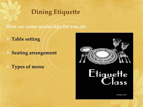 dining etiquette ppt dining etiquette ppt 28 images getting to each