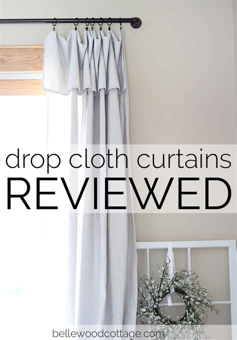 drop the curtain drop cloth curtains reviewed part 1 bellewood cottage