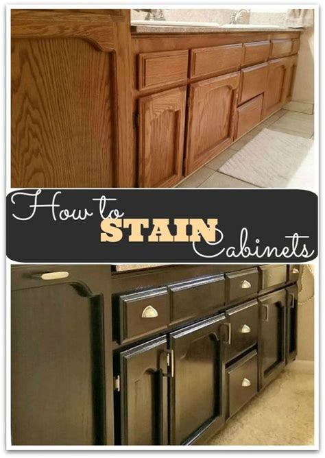 diy staining kitchen cabinets stains home and easy diy on pinterest