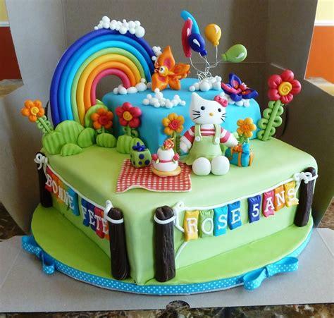 hello kitty themed cake hello kitty birthday cake cakecentral com