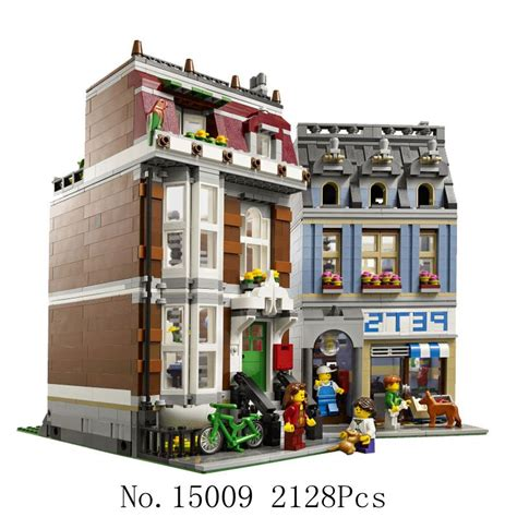 Bricks Lepin 15009 Petshop lepin creators 15009 city pet shop supermarket
