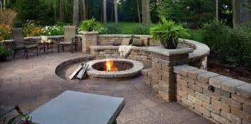 backyard fire pit bamboo landscapes fire pits amp pavers landscaping with