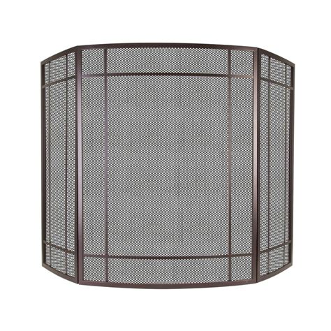 pleasant hearth asteria 3 panel fireplace screen in wenge