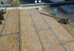 Osb T G Flooring by Flat Roof Decking Osb V Ply 171 Epdm Rubber And Liquid Flat