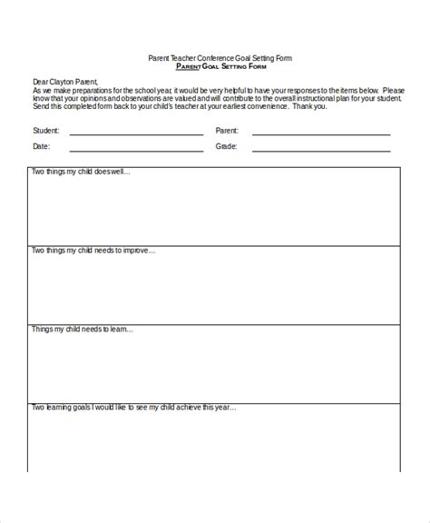 printable free parent conference forms edit fill out download