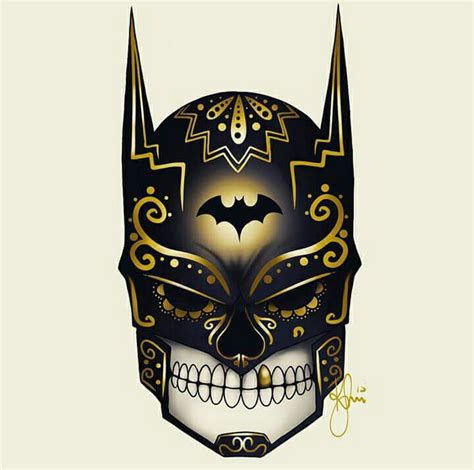 tattoo old school batman 161 feliz d 205 a de los muertos art by kenny saio batman