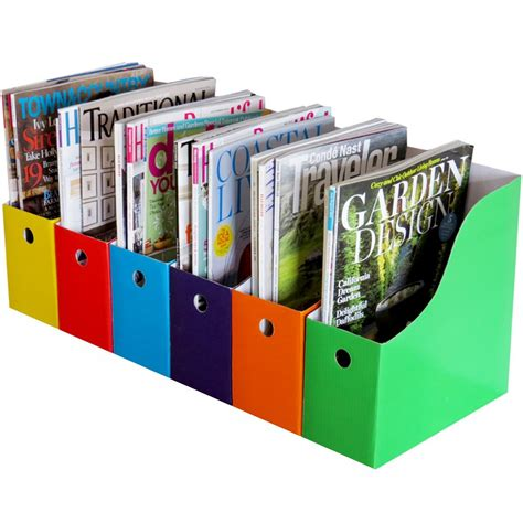 Kitchen Desk Organizer Evelots Lot Of 6 Magazine File Holders Bin Desk Organizer Kitchen Organizer Ebay
