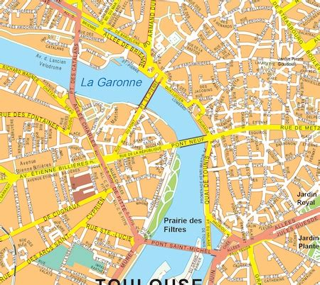 map of toulouse toulouse vector map eps illustrator map our