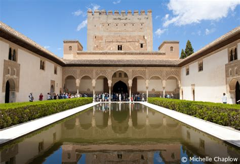 El Patio De Town by The Alhambra Palace In Granada City Tourist Information