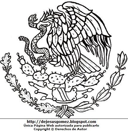escudo bandera de mexico para colorear nocturnar dibujos fotos acrostico y mas dibujos del escudo de