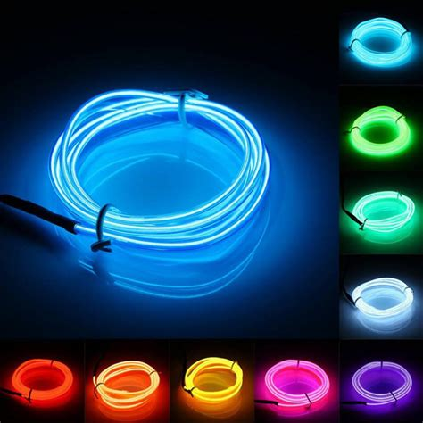 neon christmas lights 8pcs 2m 3m 5m neon light el wire rope battery operated lights outdoor