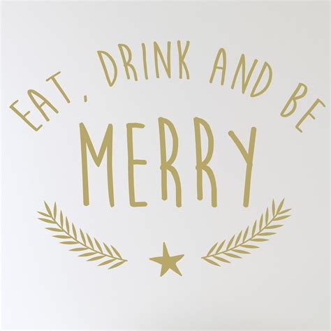 merry wall sticker eat drink and be merry wall sticker wallstickers co uk