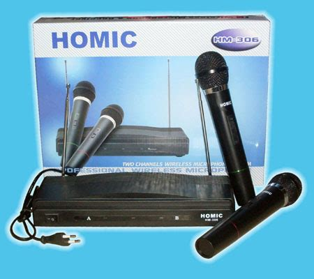 Mic Wireless Homic 306 supplier electronic parts accecories cctv remote tv ac cd rom vga finger scan and more
