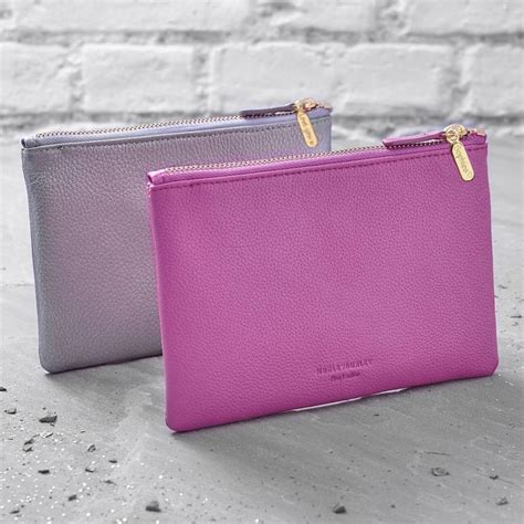 best clutch purse personalised leather clutch bag or cosmetic purse by