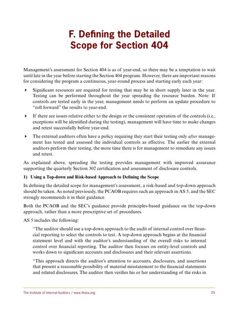 section 404 a sox section 404 a guide for management