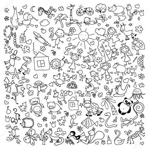 doodle drawing images children s doodle drawings stock vector 169 virinaflora