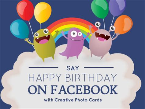 happy birthday design on facebook light your cards with funny pok 233 mon amolink
