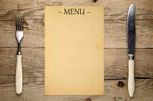 basic menu template menu templates