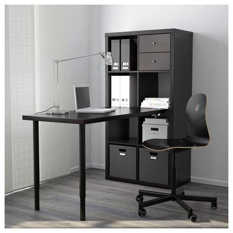 ikea kallax black brown workstation   airbnb