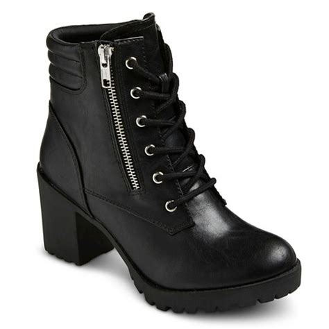 combat boot heels s mossimo supply co easton chunky heel target