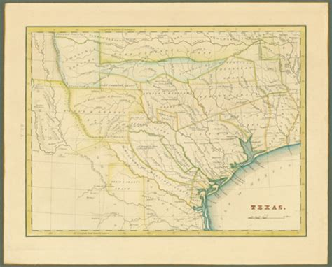original map of texas dorothy sloan books auction 23