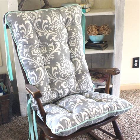 Amish Rocking Chair Cushions by Custom Ozborne Damask Rocking Chair Cushions By