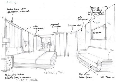 Sketch Interior Design Interior Design Olivier Van Meer Design Naval Architect