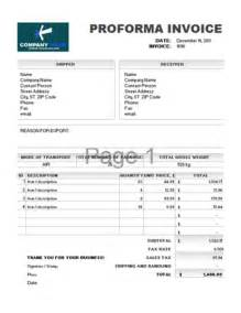 Template Of Proforma Invoice by Proforma Invoice Template