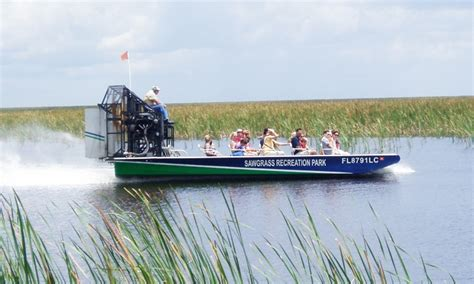 boat ride miami groupon airboat tour or gator night tour sawgrass recreation