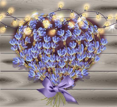 di giorno fiori biglietto di auguri di lavanda la decorazione dei fiori