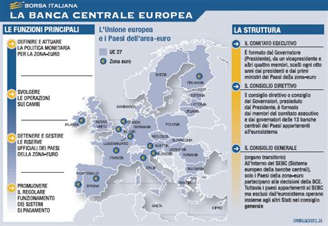 governatore della centrale europea bce borsa italiana