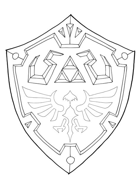 Hylian Shield Outline by Hylian Shield Template By Maxm2015 On Deviantart