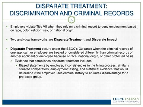 Criminal Record And Employment Discrimination New Eeoc Guidelines What Employers Need To About The Use Of Cr