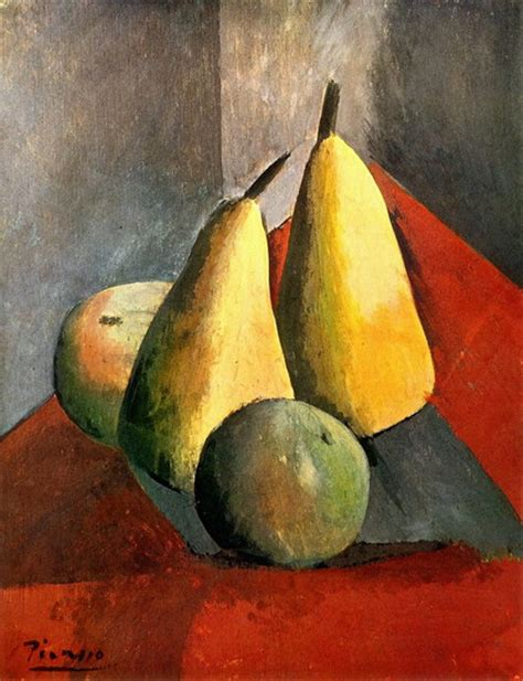 picasso paintings fruit pablo picasso pears and apples 1908