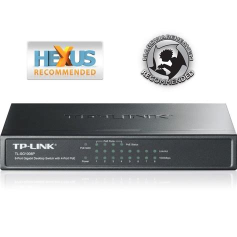 Switch Tp Link 8 Port Gigabit tp link tl sg1008p 8 port gigabit desktop switch with 4 port poe ebuyer