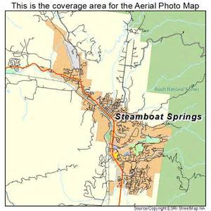 aerial photography map of steamboat springs co colorado