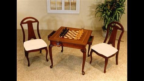 chess table with chairs chess table