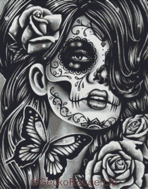 dia de los muertos cross stitch kit by carissa rose